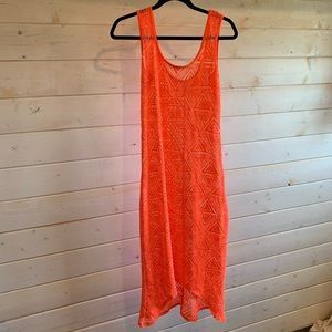 Xhilaration   Neon Orange Mesh Dress